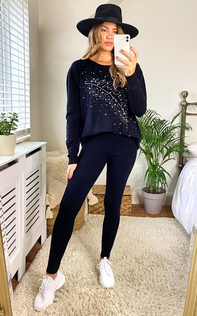 mix & match soft knit rib legging IN black by LOES House