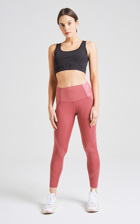 Red High Waist Sports Leggings by fasheon