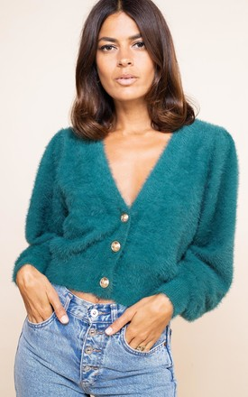 Ariana Cardigan in Forest Green by Dancing Leopard