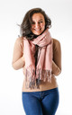Wool Mix Two Tone Scarf In Pink/Grey by Pinstripe