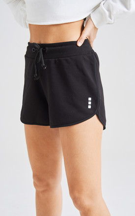 fasheon Black Runner Mini Sports Shorts by fasheon
