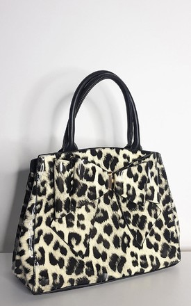 Lina Leopard Shoulder Bag in Black/White by IKRUSH