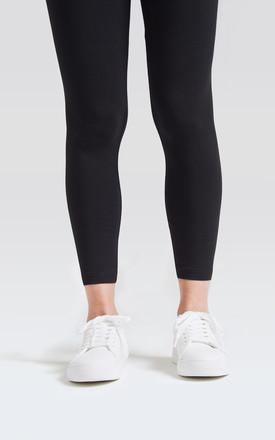 fasheon Black Classic High Waisted Ankle Length Leggings by fasheon