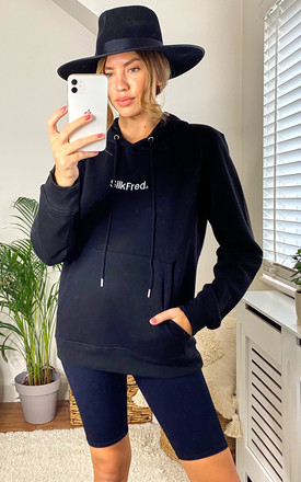 SilkFred Logo Hoodie In Black by Shop SilkFred Product photo