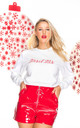 Tinsel Tits Christmas Jumper (white) by GET IT GRL