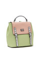 BUCKLE FLAP OVER TOP HANDLE BACKPACK GREEN by BESSIE LONDON