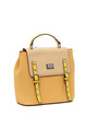 BUCKLE FLAP OVER TOP HANDLE BACKPACK YELLOW by BESSIE LONDON