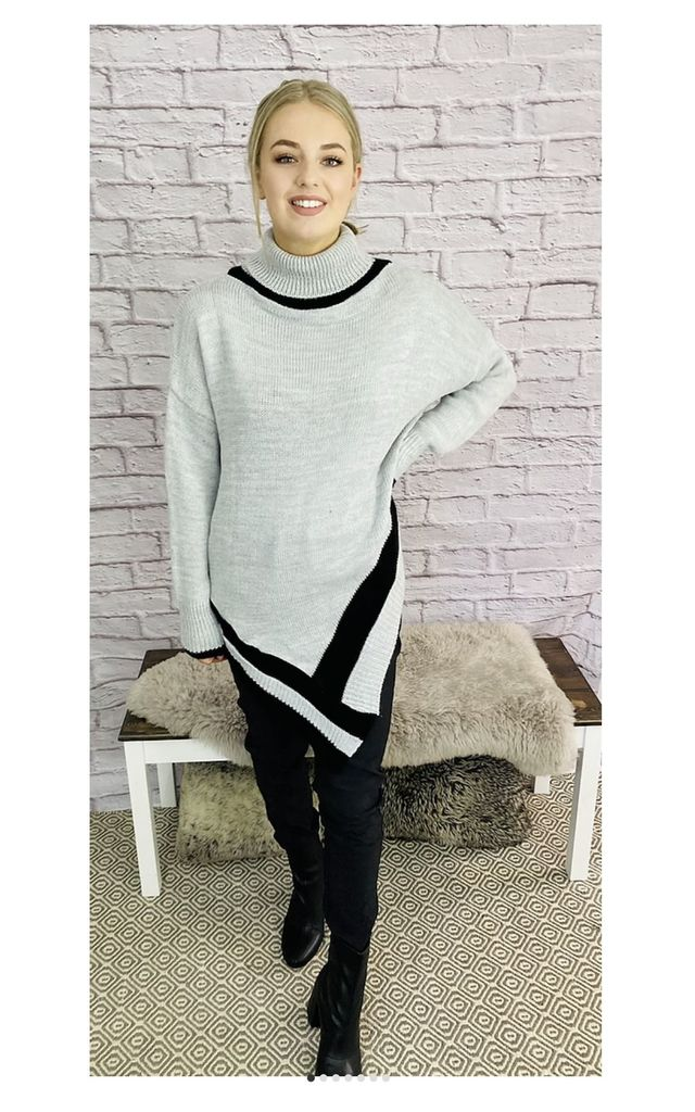 Poncho Style Roll Neck Jumper by Pink Lemonade Boutique