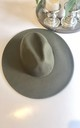 Classic large brim fedora hat in forest green by Kate Coleman