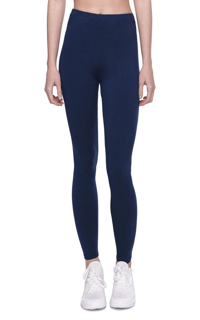 FULL LENGTH SOFT TOUCH BLACK HIGH WAIST LEGGING in navy by LOES House