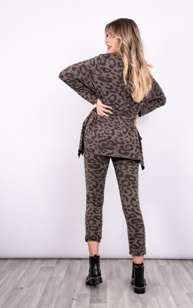 Leopard print loungewear set in taupe by LOES House