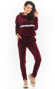 Warm and Cozy Velour Hoodie in Maroon by AWAMA
