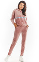 Velour Joggers with Pockets in Powder Pink by AWAMA