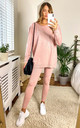 mix & match soft knit rib legging IN pink by LOES House