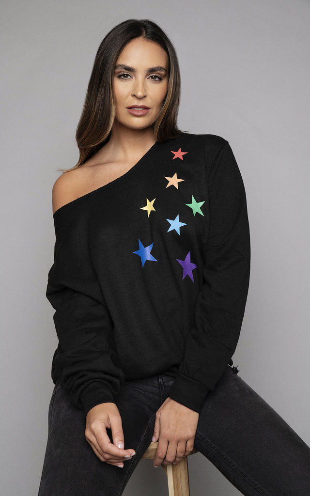 Starburst Oversized Sweatshirt in Black by James Steward