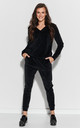 Cozy Velour Tracksuit in Black by Makadamia