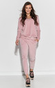 Cozy Velour Tracksuit in Powder Pink by Makadamia