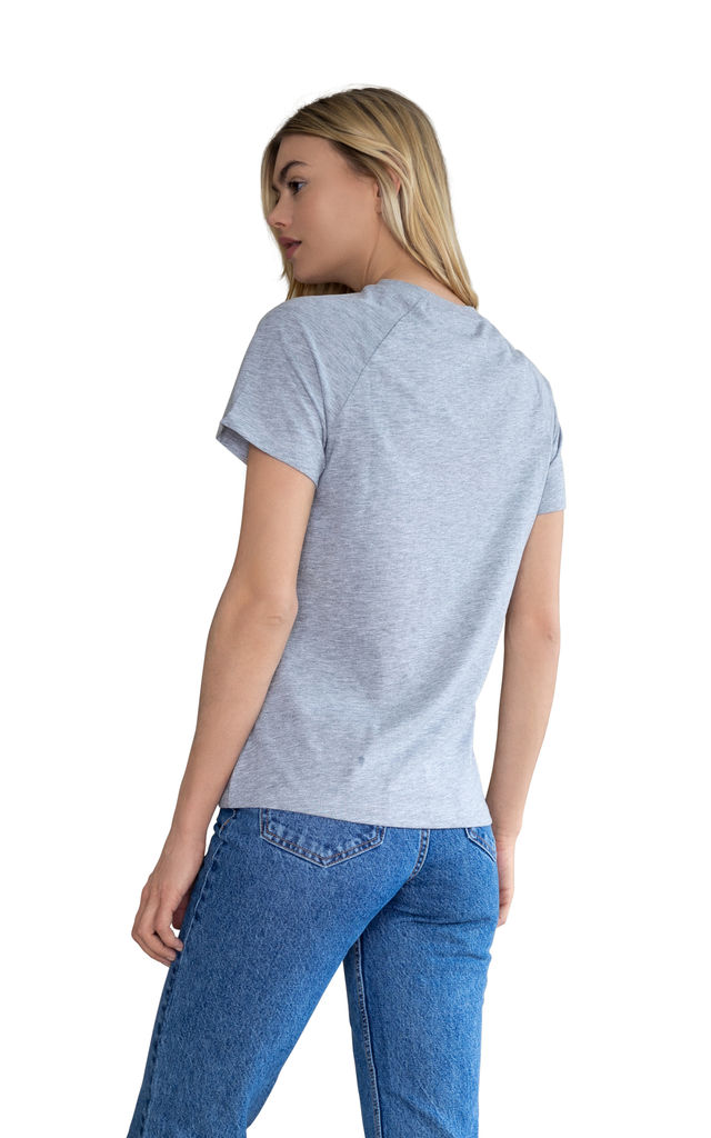 Scorpio Grey Embroidered Personalised Zodiac T-shirt by Bezo London