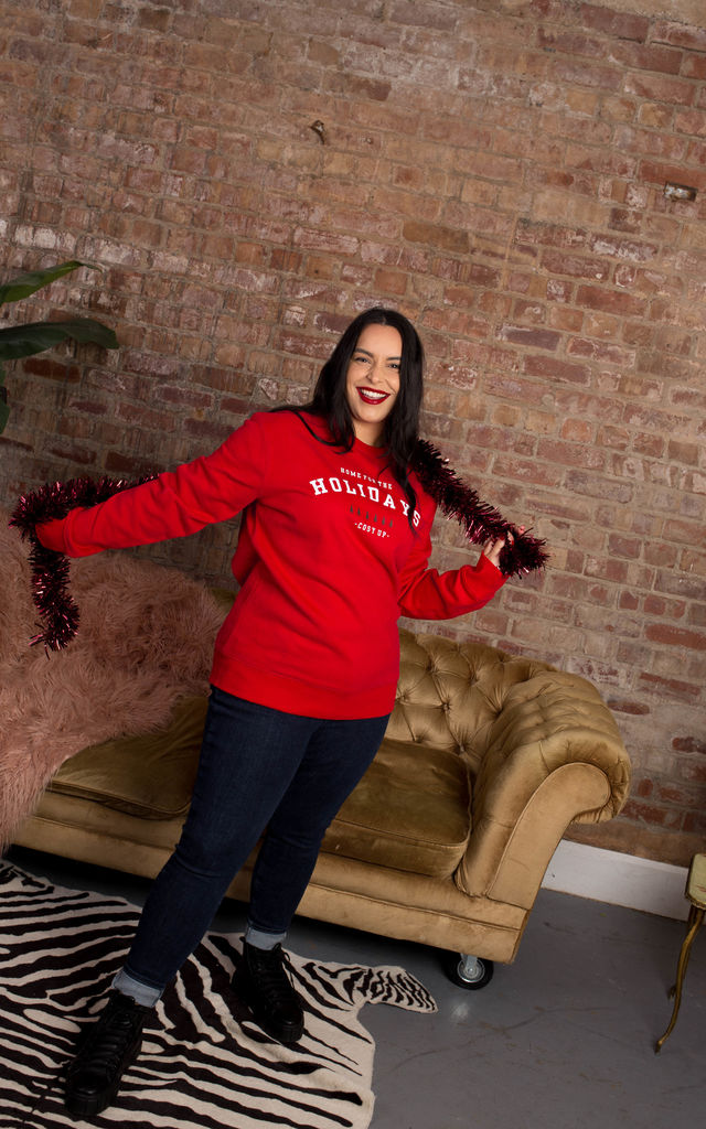 "Red ""Home for the Holidays"" Christmas Jumper by Rock On Ruby"