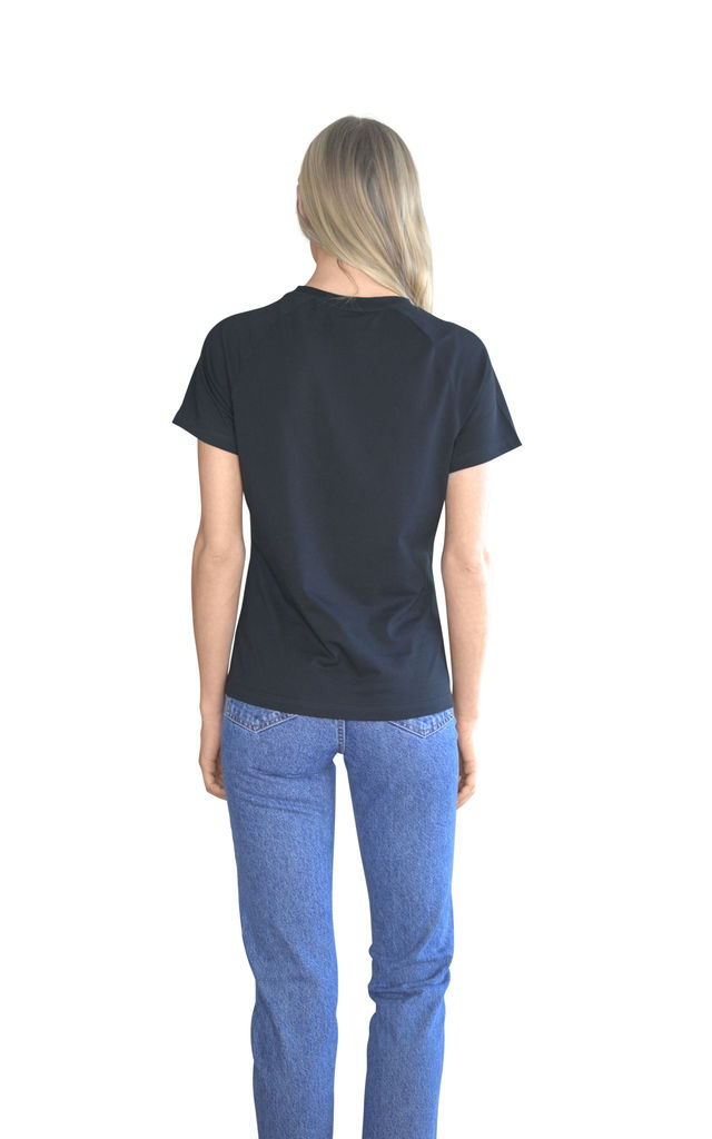 Virgo Black Embroidered Personalised Zodiac T-shirt by Bezo London