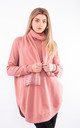 Long sleeve bell split jumper & scarf (Pink) by Lucy Sparks