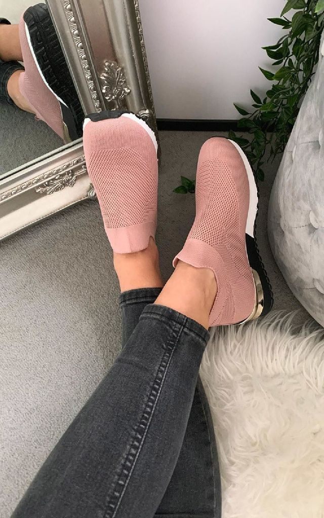 Jessi Sock Trainers in Pink by IKRUSH