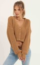 Crop Cable Knit Cardigan_Camel by URBAN TOUCH