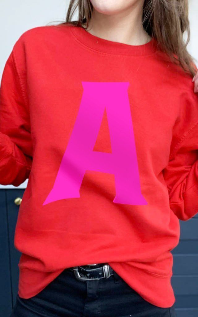 Personalised Initial Alphabet Sweatshirt by Solesmith