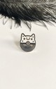 Moon star black cat pin hat badge by Kate Coleman