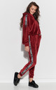 Comfy Tracksuit with Decorative Strap in Maroon by Makadamia