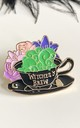 Witches brew pin hat badge by Kate Coleman