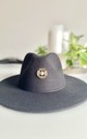 Moon child large brim black fedora hat by Kate Coleman