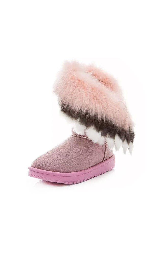 Fuzz luxury Pink Boots by AMO