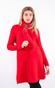 Luxury Zig Zag Pattern Jumper With Scarf (Red) by Lucy Sparks