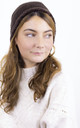 Knitted Fluffy Plush Inside Beanie in Chocolate by ANGELEYE