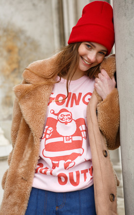 Going Out Out Santa Women's Christmas Slogan T-Shirt by Batch1