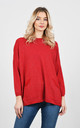 Soft casual sparkle thread jumper (Red) by Lucy Sparks