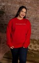 Red Oversized Hungover Slogan Sweatshirt by Rock On Ruby