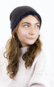 Knitted Fluffy Plush Inside Beanie in Grey by ANGELEYE