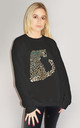 Gold Iridescent Leopard Jumper In Black by Sade Farrell