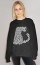 White Leopard Print Jumper In Black by Sade Farrell