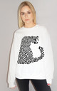 Black Leopard Print Jumper In White by Sade Farrell