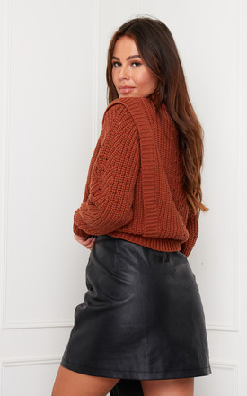 Hazel Front Trim Detailed Jumper Rust by Girl In Mind