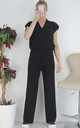 Ribbed Top & Wide Leg Pants Co-ord Set Loungewear by Boutique Store