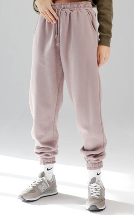 Fleece Joggers in Mauve by Aftershock London