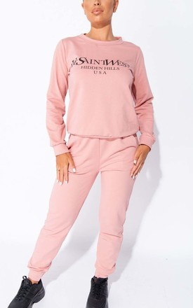 Rose Ye Saint West Jumper & Jogger Lounge Set by Parisian Fashion