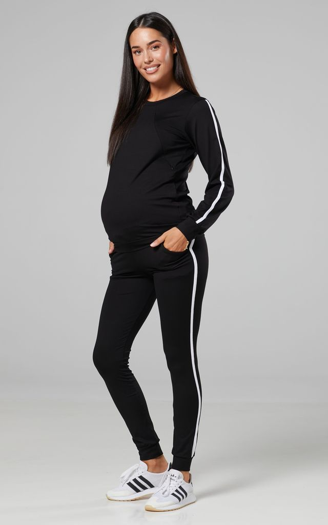 Women's Maternity Nursing Tracksuit Set Extension Bump Panel  1254 SHBL by Chelsea Clark
