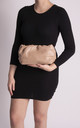 Lauren Taupe Ruched Clutch Bag by KoKo Couture