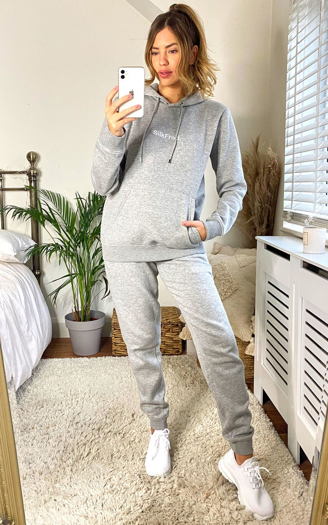 SilkFred Logo Tracksuit In Grey by Shop SilkFred