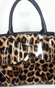 Lina Leopard Shoulder Bag in Brown by IKRUSH